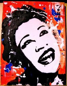 """Ella"" (2013) 24 x 18 cms Acrílico, acuarela, óleo, rotulador"